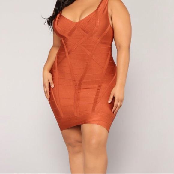 wide range hot-selling genuine official shop Plus Size Bandage Dress